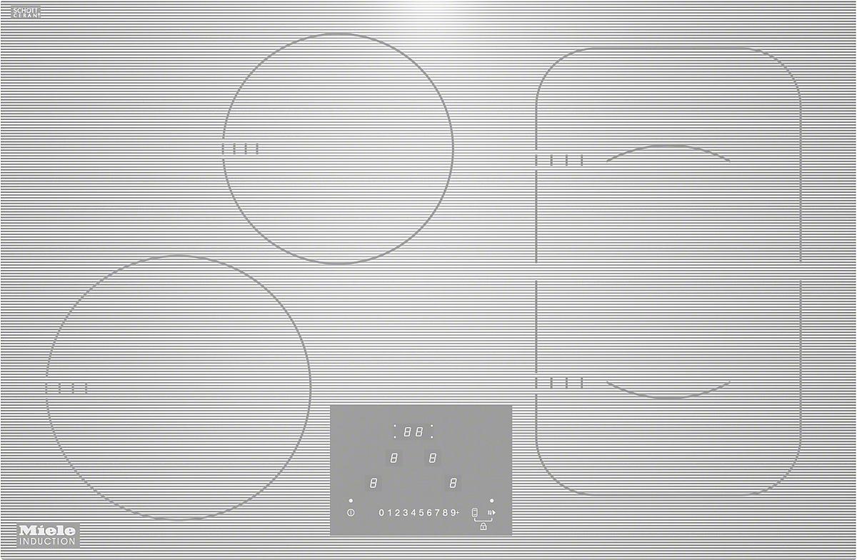 KM 6349-1 induktsioon pliidiplaat, valge