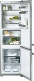 KFN 14927 SD ed külmik-sügavkülmik, teras, eraldiseisev 201 cm